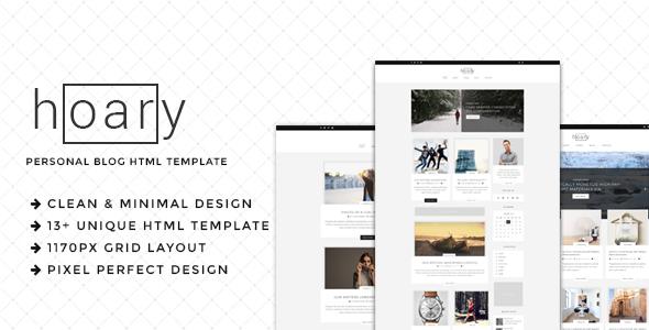Hoary – Minimal Blog HTML Template