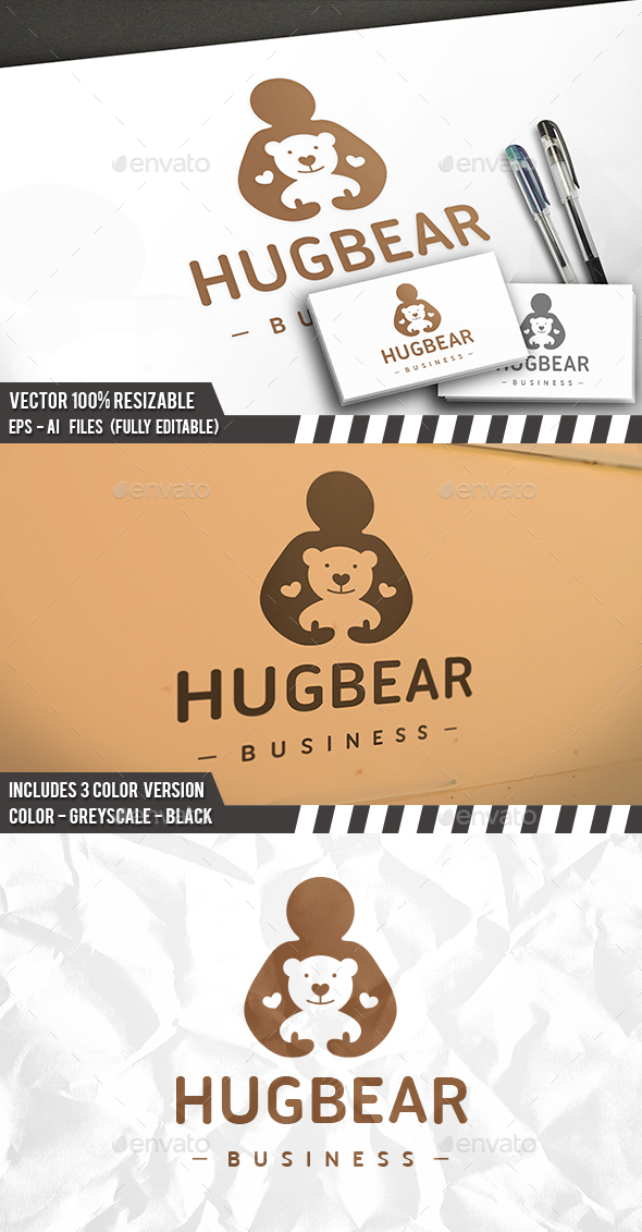 Hug Bear Logo - Company Logo Templates