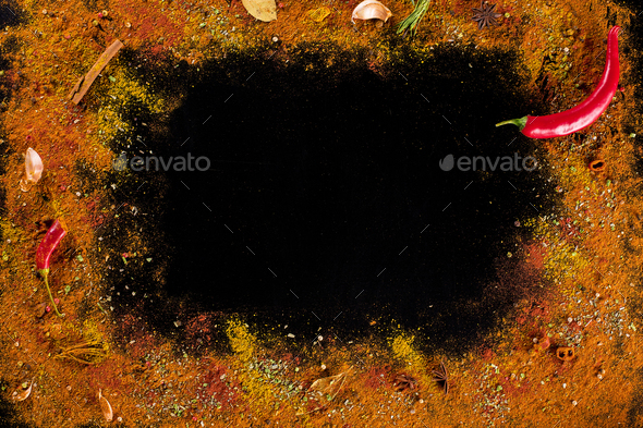 Curry spice background - Stock Photo - Images