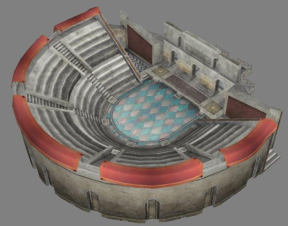 Roman amphitheatre - 3DOcean Item for Sale