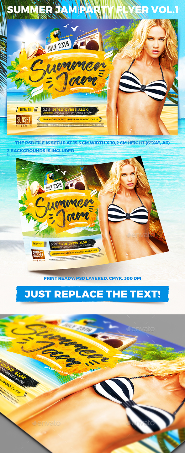 Summer Jam Party Flyer vol.1 - Clubs & Parties Events