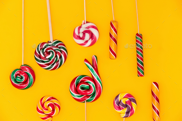The colorful candies background - Stock Photo - Images