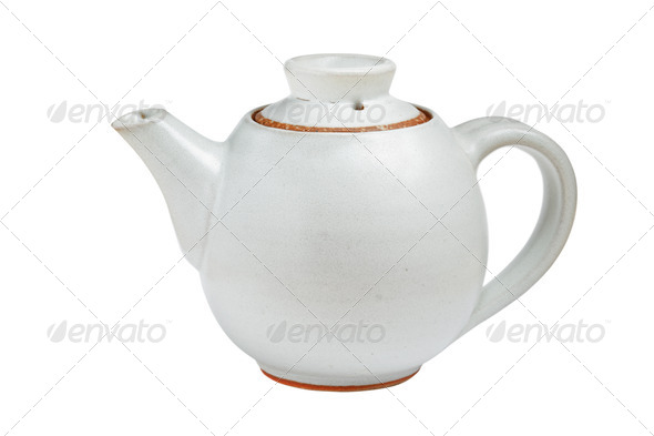 Chinese tea pot isolated - Stock Photo - Images