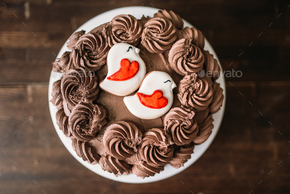 Homemade chocolate cake, culinary masterpiece - Stock Photo - Images