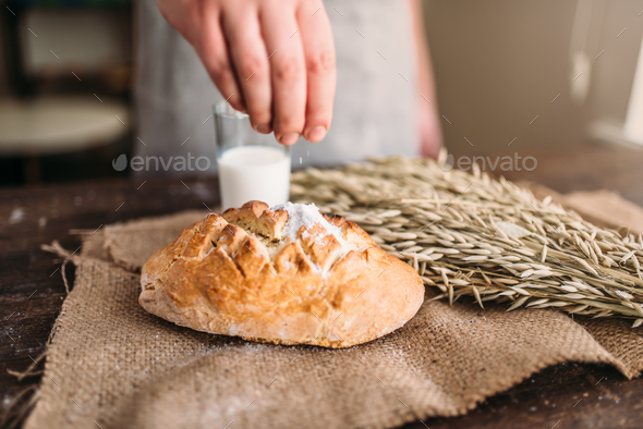 Homemade bakery concept, natural organic food - Stock Photo - Images