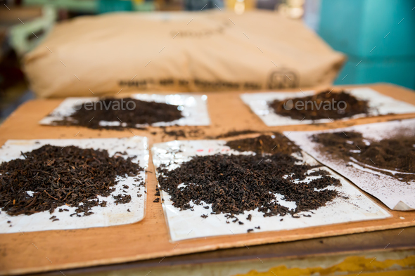 Collection of Ceylon teas selective focus view - Stock Photo - Images