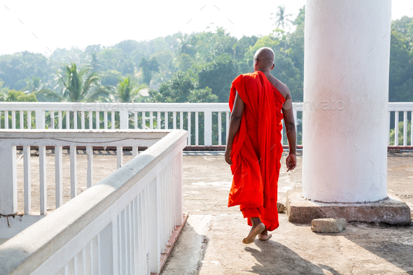 Buddhist in buddha temple, buddhism religion - Stock Photo - Images