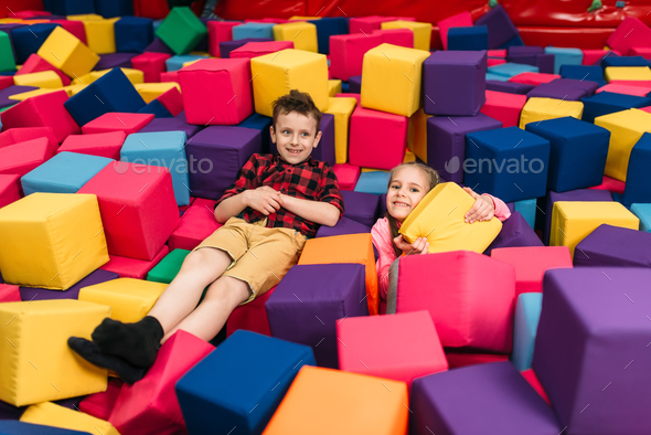 Kids play in child entertainment center - Stock Photo - Images