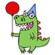 Dinosaur at the Party - GraphicRiver Item for Sale