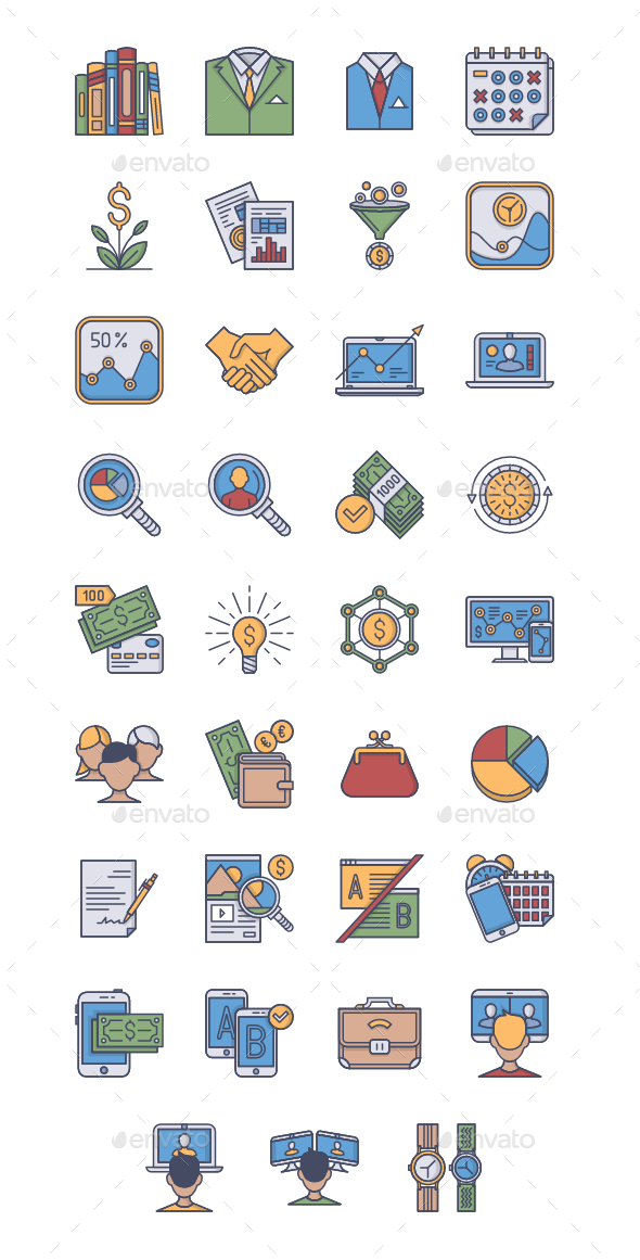 35 Business Icons - Business Icons