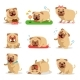 Pug Dog Activities During Day Set. Dog Daily - GraphicRiver Item for Sale