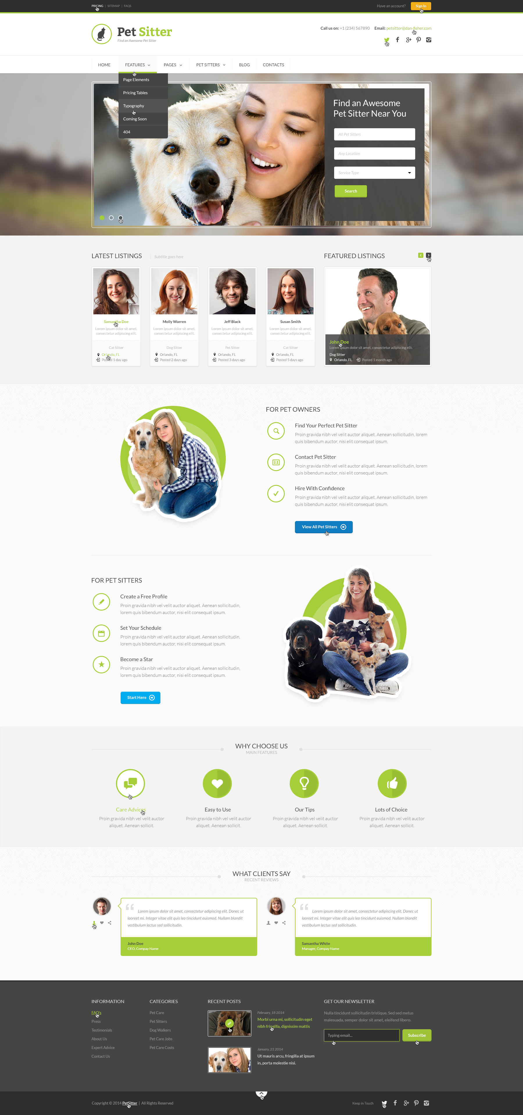 Pet Sitter - Job Board Responsive WordPress Theme by dan_fisher ...