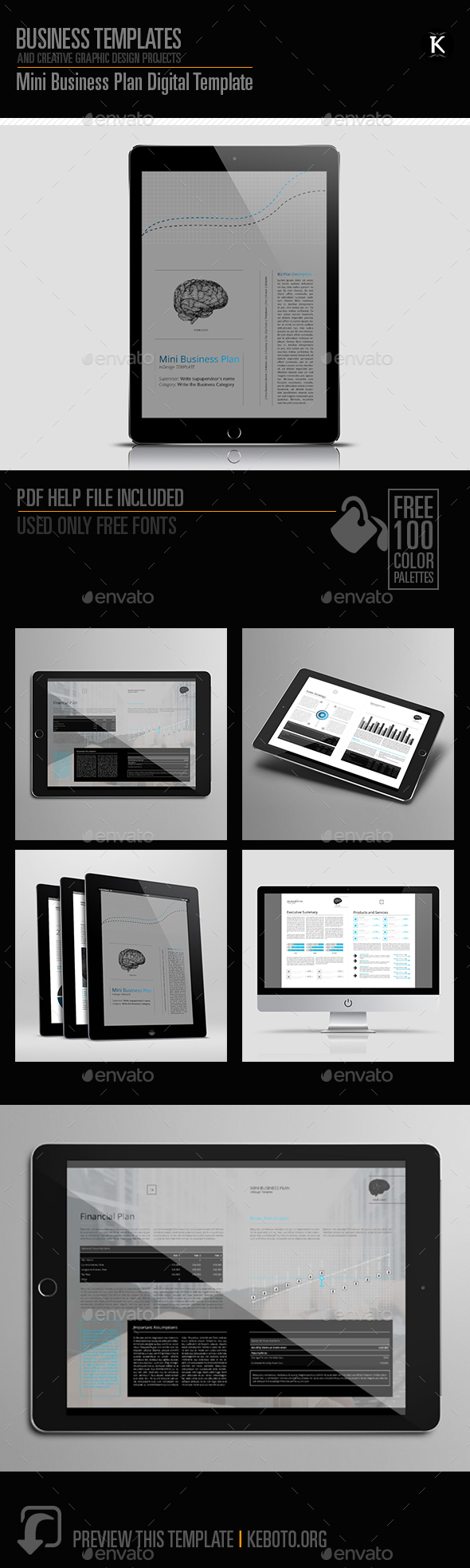 Mini Business Plan Digital Template - ePublishing