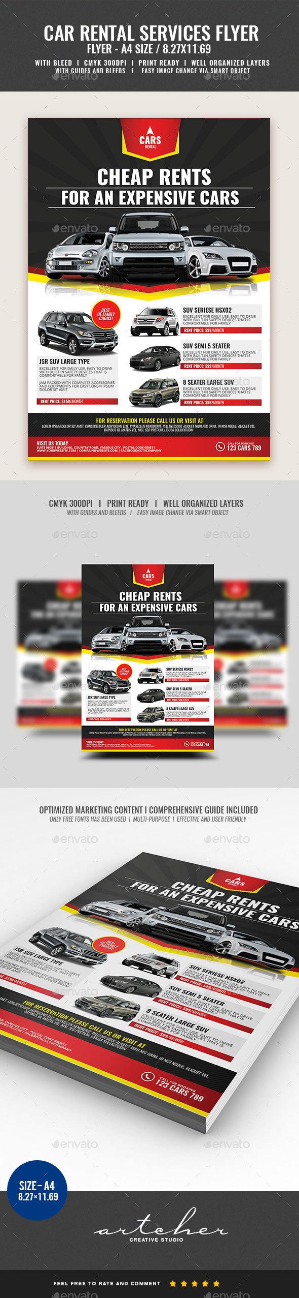 Car Rental Flyer - Commerce Flyers