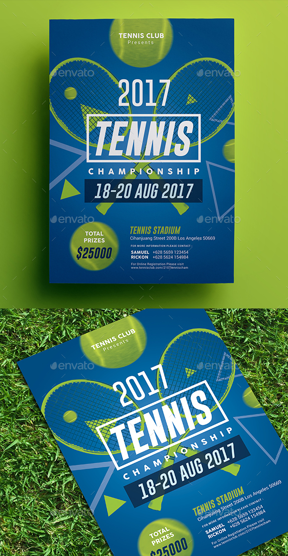 Tennis Championship Flyer 02 - Sports Events