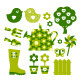 Garden objects and elements - green - GraphicRiver Item for Sale