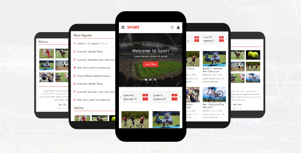 Sport – Responsive Mobile Template