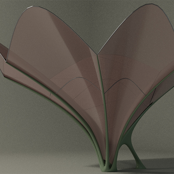 Lily canopy - 3DOcean Item for Sale