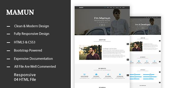 MAMUN – Personal Portfolio Template