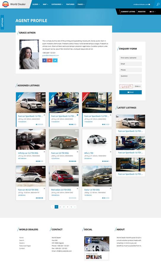 Car Dealer Classified Directory Template by sanljiljan | ThemeForest