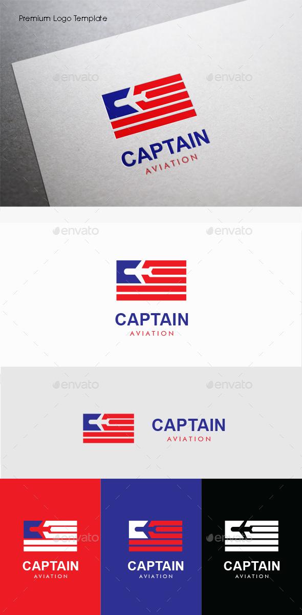 Captain Aviation - Symbols Logo Templates