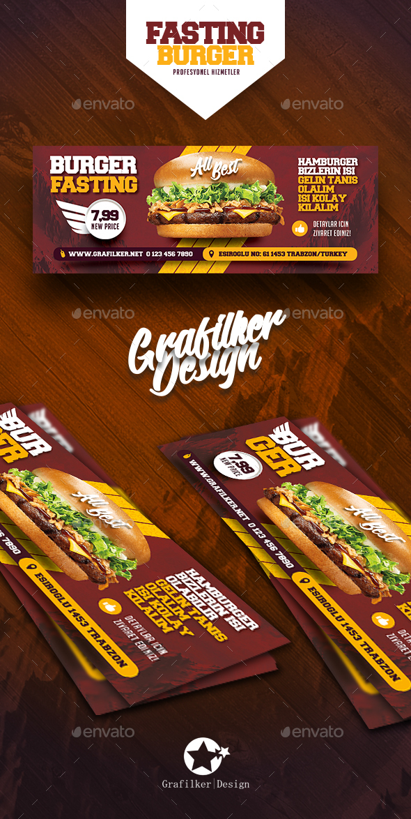 Fast Food Burger Cover Templates - Facebook Timeline Covers Social Media