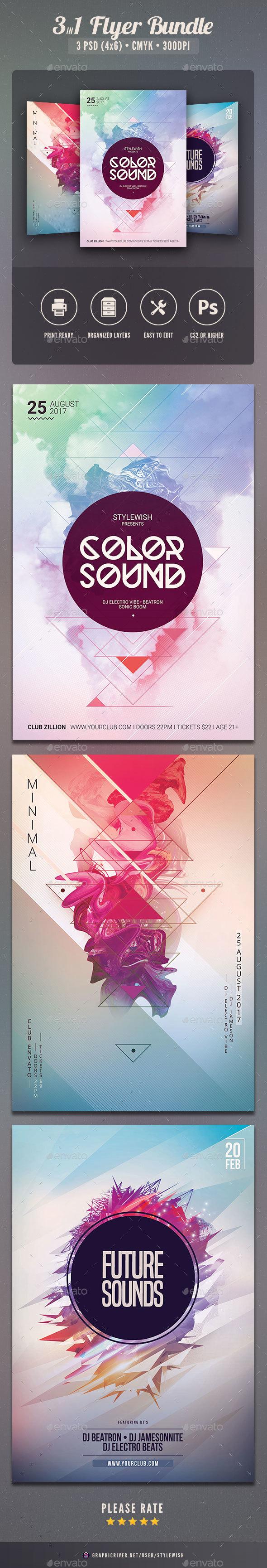 Geometric Flyer Bundle Vol.08 - Clubs & Parties Events