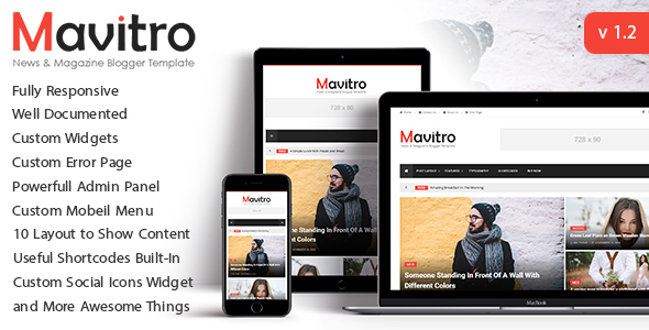 Mavitro - News & Magazine Blogger Template