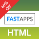 FASTAPPS Creative Mobile Apps Multiplepurpose HTML5 Template Nulled