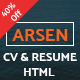 ARSEN - CV/RESUME - HTML Template Nulled