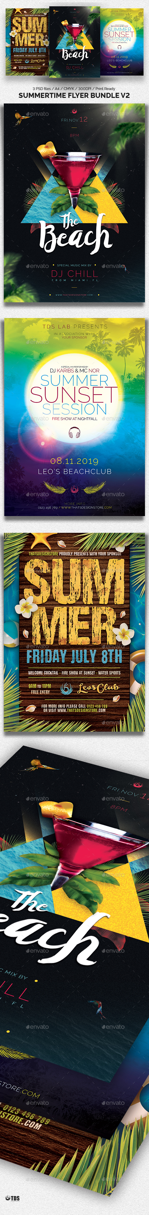 Summertime Flyer Bundle V2 - Clubs & Parties Events