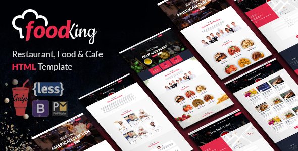 FoodKing – Restaurant, Food & Cafe HTML Template
