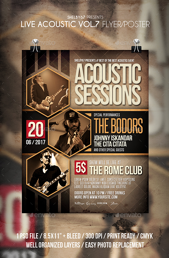 Live Acoustic Flyer / Poster Vol 7 - Events Flyers