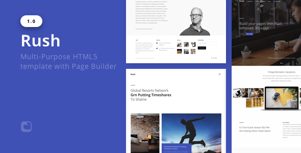 Rush – Multi-Purpose HTML with Page Builder
