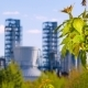 Branch with Green Leaves on the Background Oil Refinery - VideoHive Item for Sale