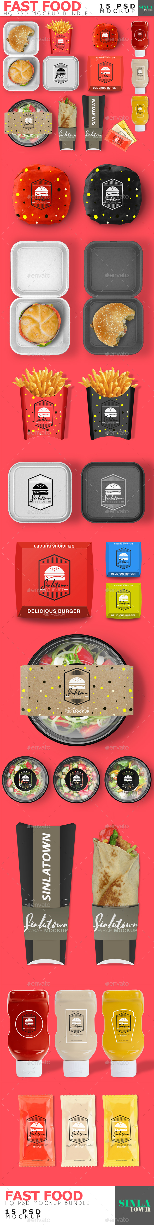 Fast Food Product Mockup Bundle - Product Mock-Ups Graphics