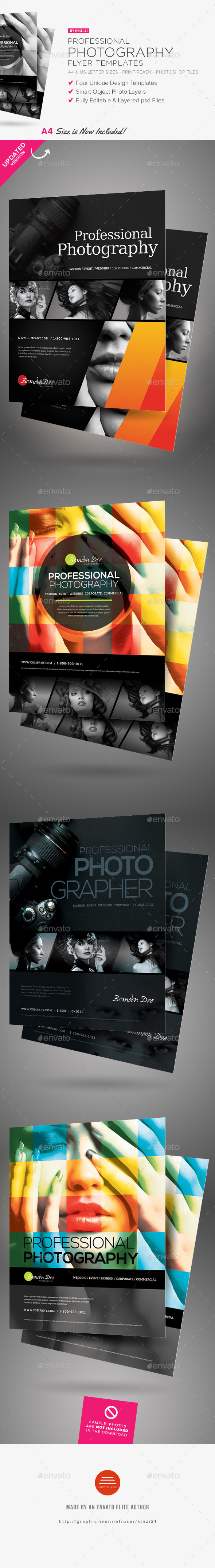 Professional Photography Flyers - Corporate Flyers