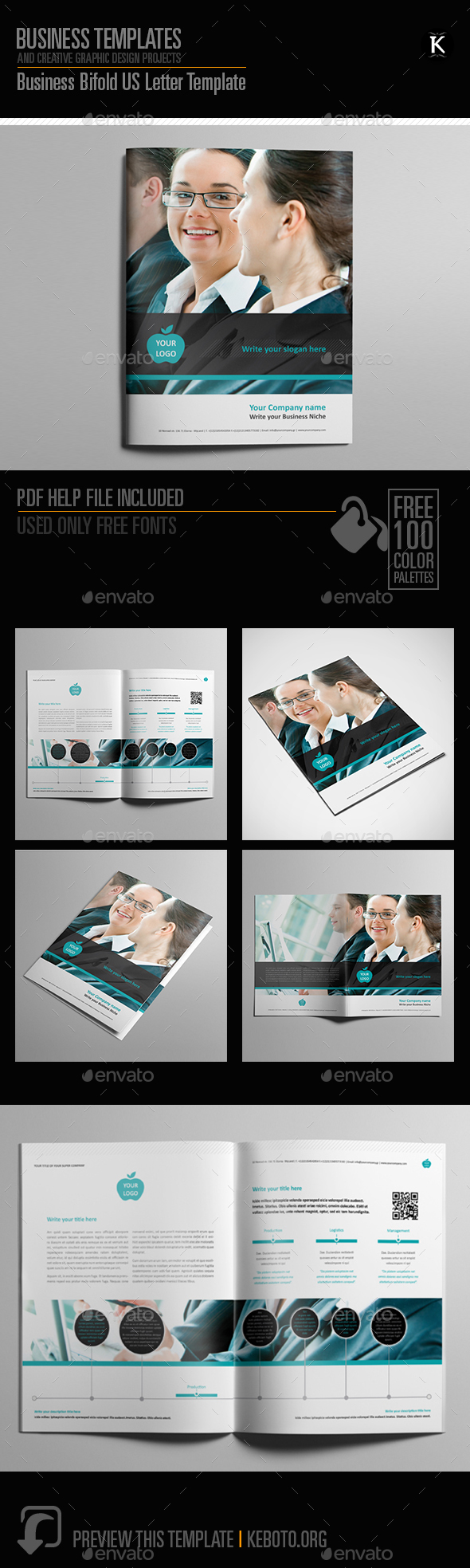 Business Bifold US Letter Template