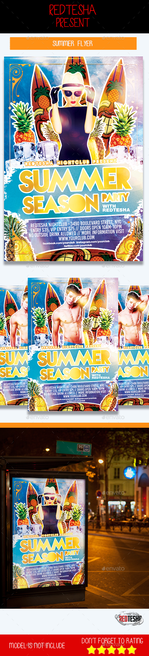 Summer Season Flyer - Clubs & Parties Events