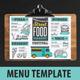 Food Truck Menu - GraphicRiver Item for Sale
