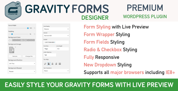Gravity Forms Designer by WPGurus | CodeCanyon