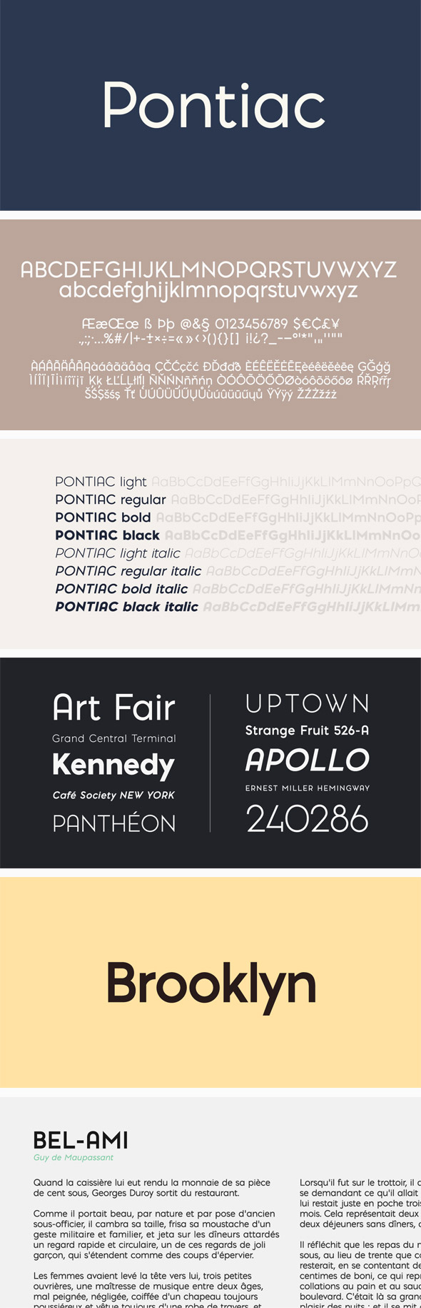 Pontiac Font Pack - Sans-Serif Fonts