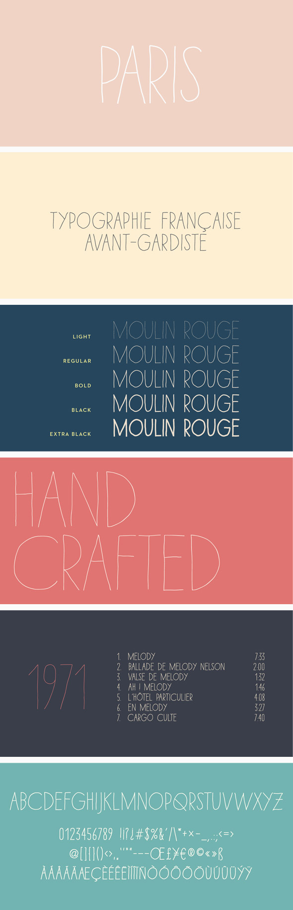 Paris Font Pack - Handwriting Fonts