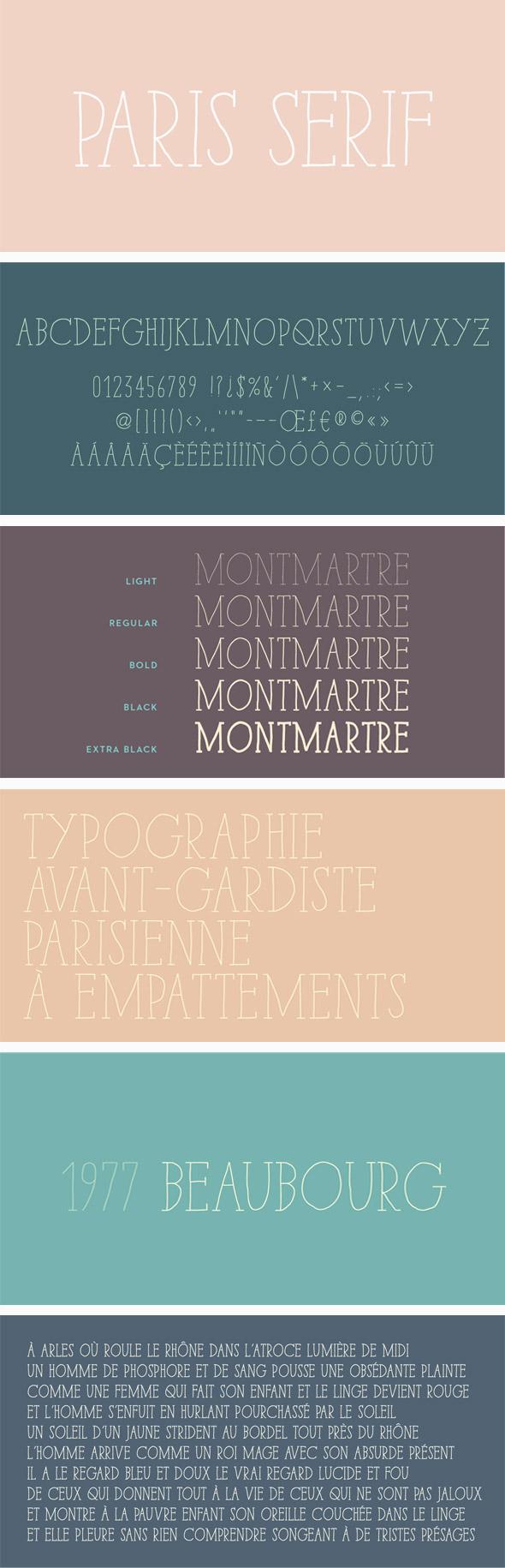 Paris Serif Font Pack - Hand-writing Script