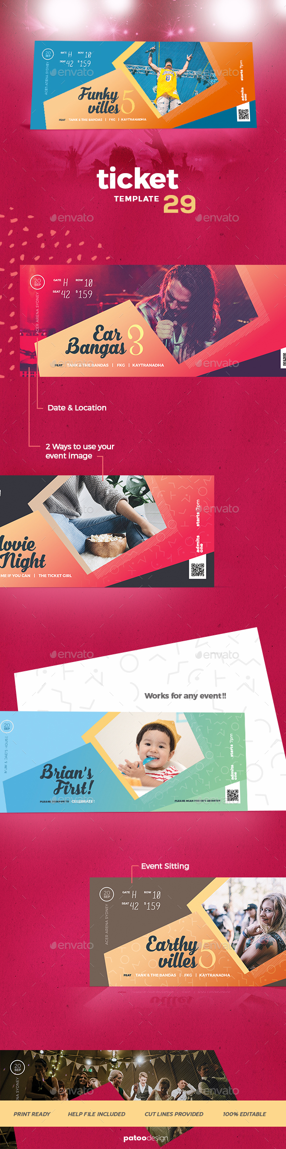 Event Tickets Template 29 - Miscellaneous Events