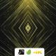 VJ Gold Kaleidoscope Particles