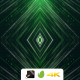 VJ Green Tunnel Particles - VideoHive Item for Sale