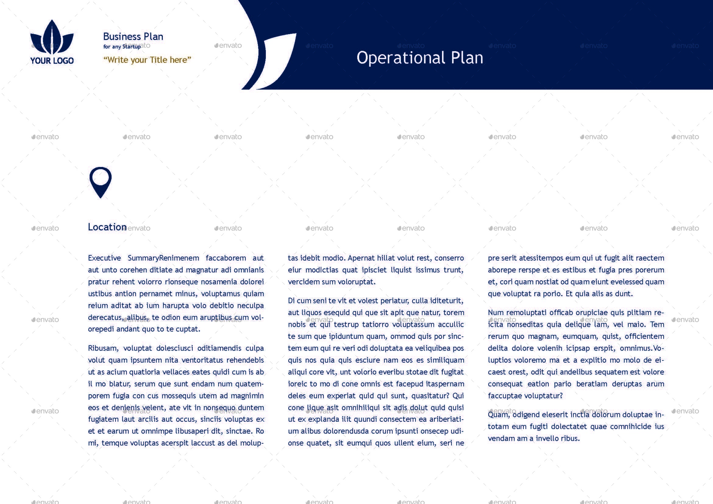 Business plan for startups template by keboto graphicriver business plan for startups templatepage20g accmission Images