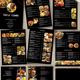 Restaurant Menu black - 9 Pages - GraphicRiver Item for Sale