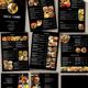 Restaurant Menu black - 9 Pages - GraphicRiver Item for Sale